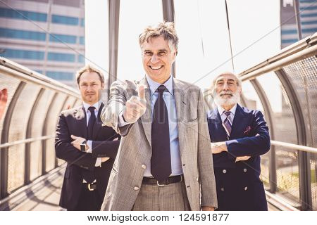 Portrait of three mature businessmen - Senior business people looking confident at camera and smiling