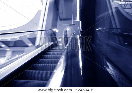 verschwommene Rolltreppe abstrakte Transport Hintergrund