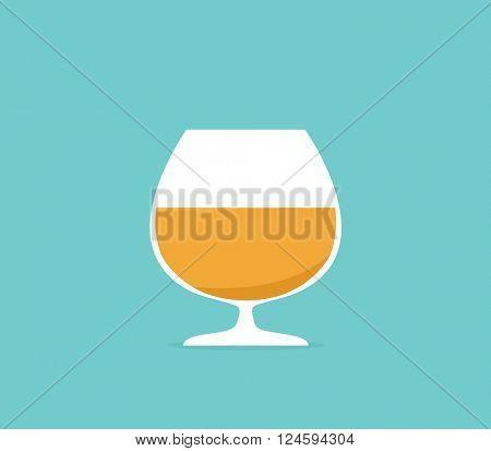 cartoon glass of cognac