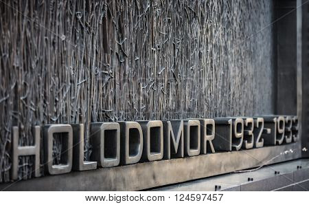 Holodomor Memorial In Washington