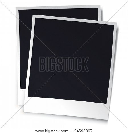 Realistic photoframe design template. Isolated on white background