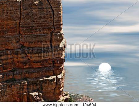Sunset Among Rocks