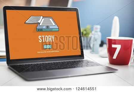 Story Drama Plot Poetry Fairytale Narrative Concept poster