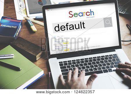 Default Word Search Online Concept