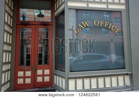 Old small town Store Front Law Office building
