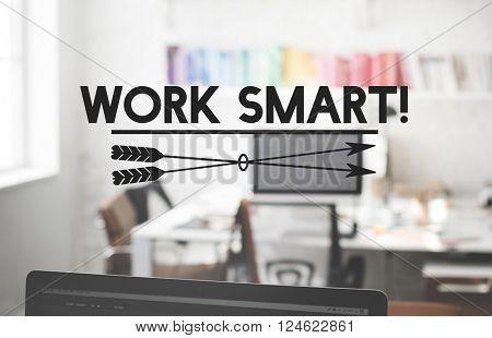 Work Smart Planning Productive Efficient Effective Concept