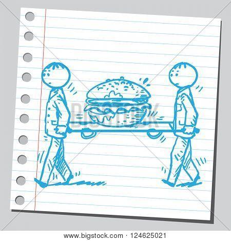 Service for hamburger