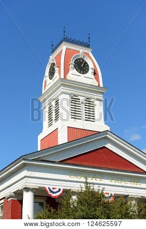 Court House of Washington County Building in downtown Montpelier, State of Vermont, USA.