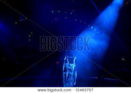 lights in night dance club