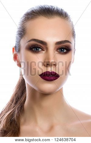 Portrait Of Young Woman With Modern Makeup