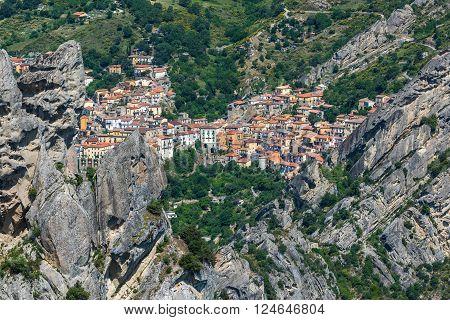 Castelmezzano In Basilicata, One Of The Most Beautiful Village In Italy