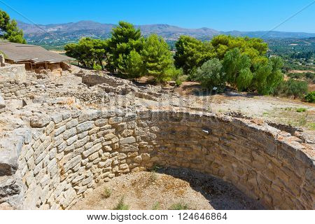 Archaeological site of Phaistos. Crete Greece Europe