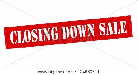 Rubber stamp with text closing down sale inside vector illustration`