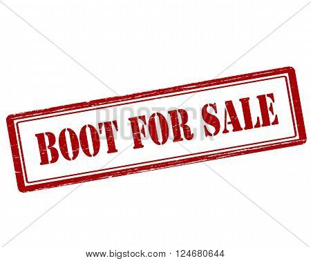 Rubber stamp with text boot for sale inside vector illustration`