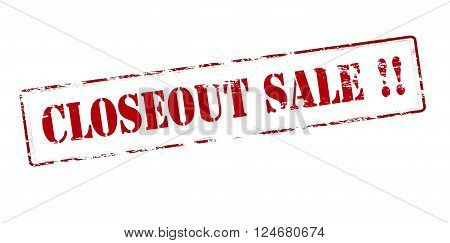 Rubber stamp with text closeout sale inside vector illustration`
