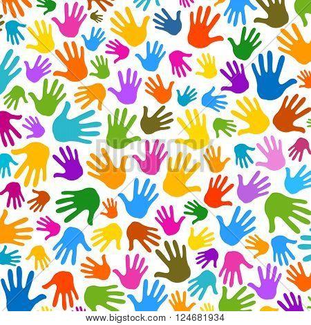 hands pattern illustration background