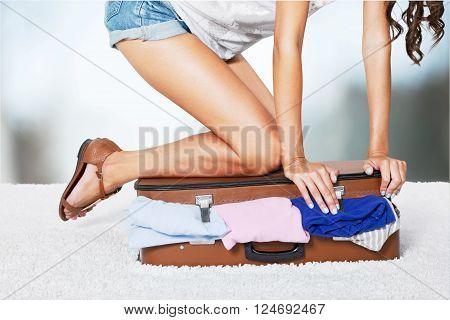 Clothing bag.