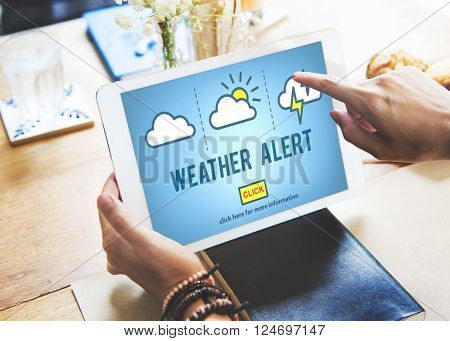 Weather Alert Prediction Forecast News Information Concept