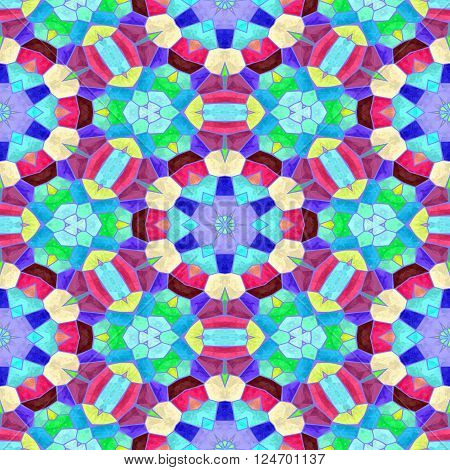 Abstract turquise kaleidoscopic background texture and pattern