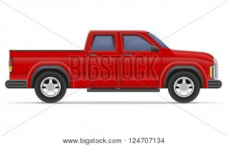 car pickup vector illustration isolated on white background