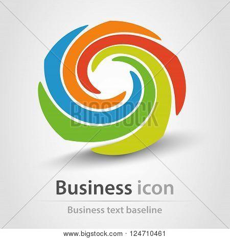 Originally created business icon with rainbow twister