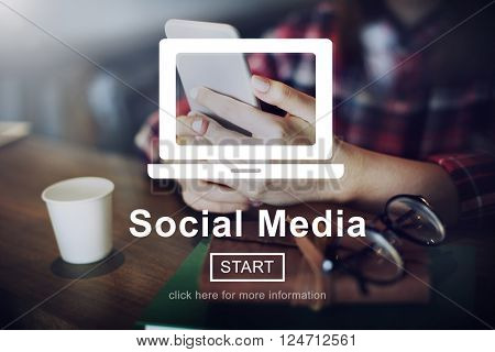 Social Media Internet Networking Technology Concept