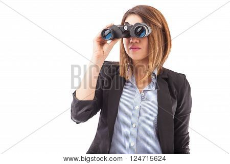 Businesswoman Looking Ahead On Her Business