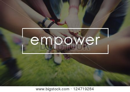 Empower Enable Inspire Lead Concept