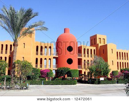 Exotic architecture in El Gouna, Egypt.