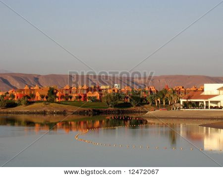 A view on a mountains in El Gouna, Egypt.