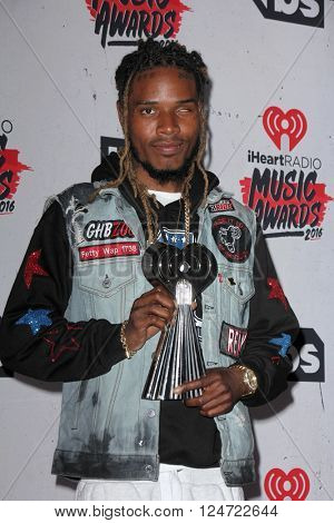 LOS ANGELES - APR 3:  Fetty Wap at the iHeart Radio Music Awards 2016 Press Room at the The Forum on April 3, 2016 in Inglewood, CA