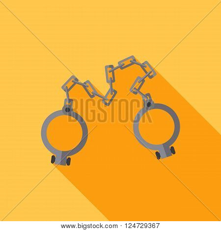 Old shackles. Closed. Vector flat design. icon
