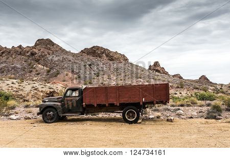 Old Rusty Truck In Nelson Nevada Ghost Town
