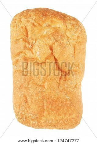 wholesome ciabatta bread, isolated on white background