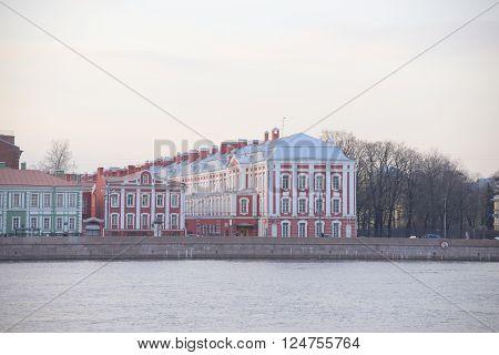 Twelve Colleges building in St.Petersburg Russia. The main building of the St.Petersburg University.