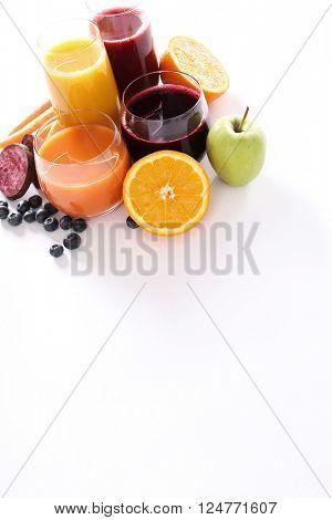 Multifruit juice on the table