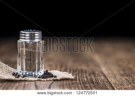 Pepper Shaker (detailed close-up shot) on vintage background