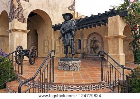 SAN DIEGO,USA - MAY 08,2014 : Mormon Battalion Historic Site building of San Diego,California,Usa on May 08,2014