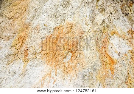 Colors and textures found in a silica pit make a great background