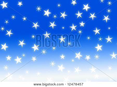 blue star holiday abstract