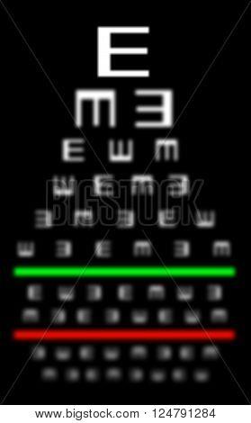Eyesight Concept - Bad Eyesight