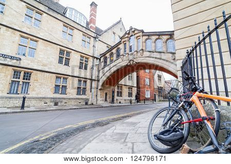 The Bridge of Sighs Between Hertford College University Oxford United Kingdom