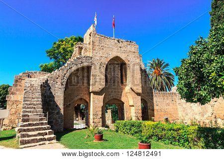 Historic Bellapais Abbey in Cyprus near Kyrenia.