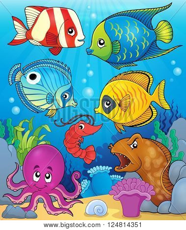 Coral fauna theme image 3 - eps10 vector illustration.