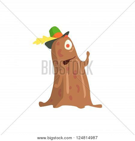 Slime Childish Monster Flat Cartoon Style Isolated Vector Design Print On White Background