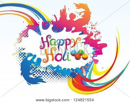 abstract artistic colorful holi background vector illustration