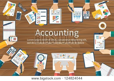 Accounting. Vector Flat Design.
