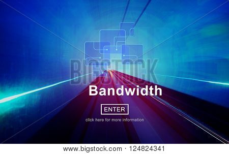 Connection Data Bandwidth Network Technology Concept