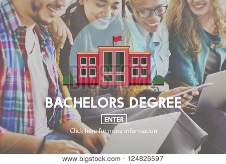 Academic College Bachelor Degree Admission Concept poster
