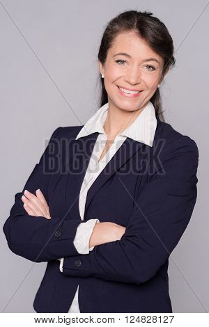 Portrait of a smiling middle aged business woman